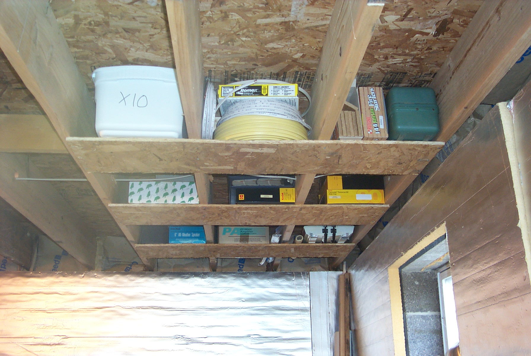 organize basement storage
